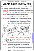 Rules to stay safe